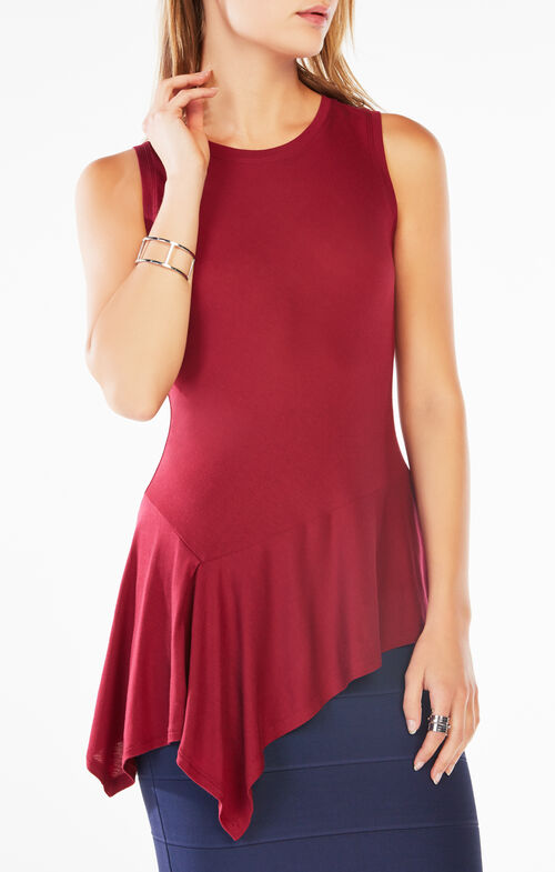 Cari Asymmetrical Jersey Tank