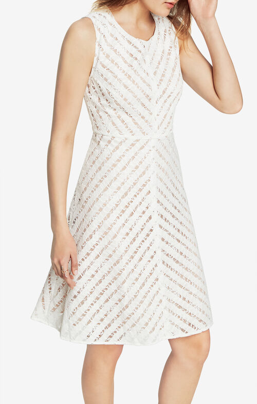 Cate Striped Lace Dress