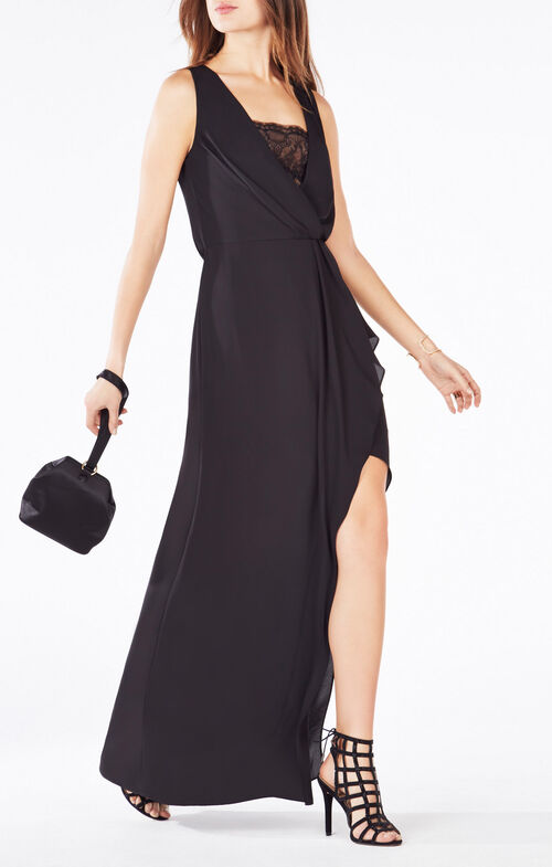 Koko Lace-Trim Blouson Gown