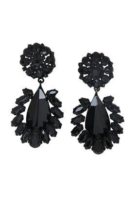Floral-Stone Earrings