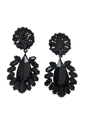 Floral-Stone Earrings
