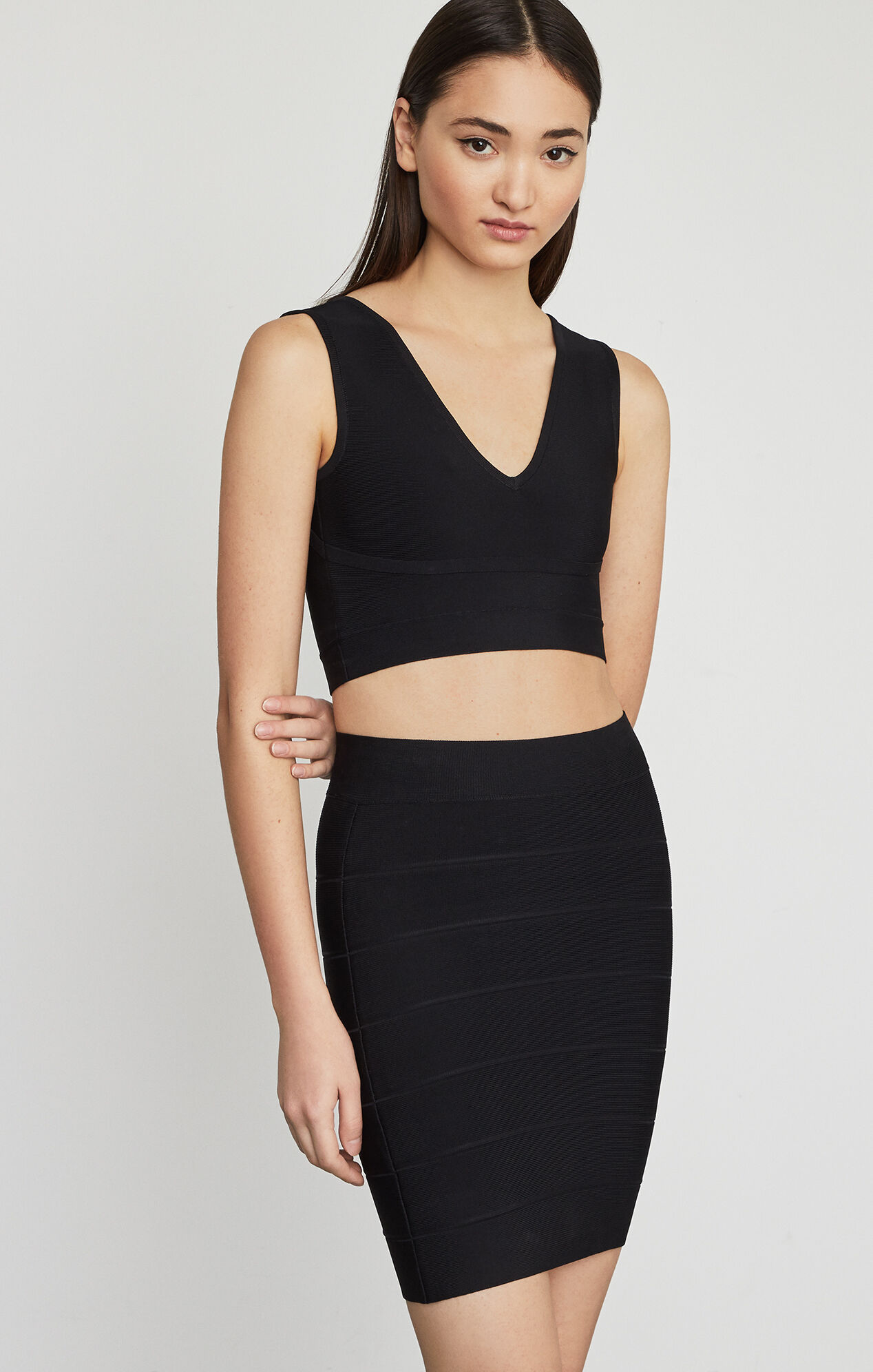 Simone Textured Power Skirt