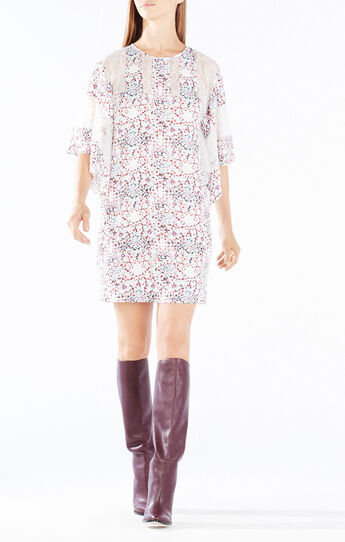 Susannah Print-Blocked Kaftan Dress