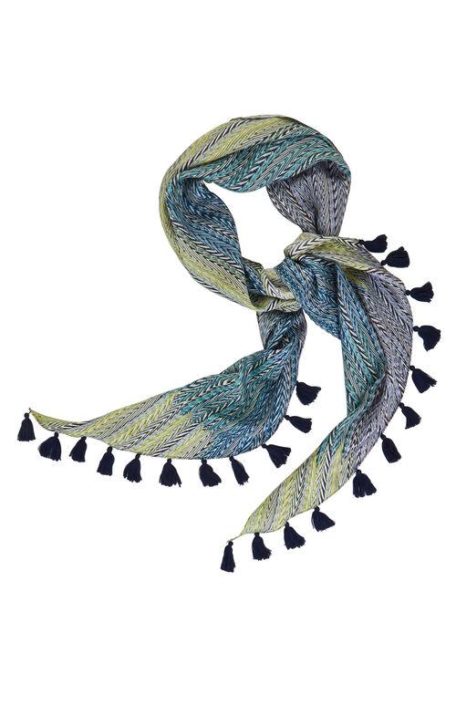 Chevron Print Silk Scarf