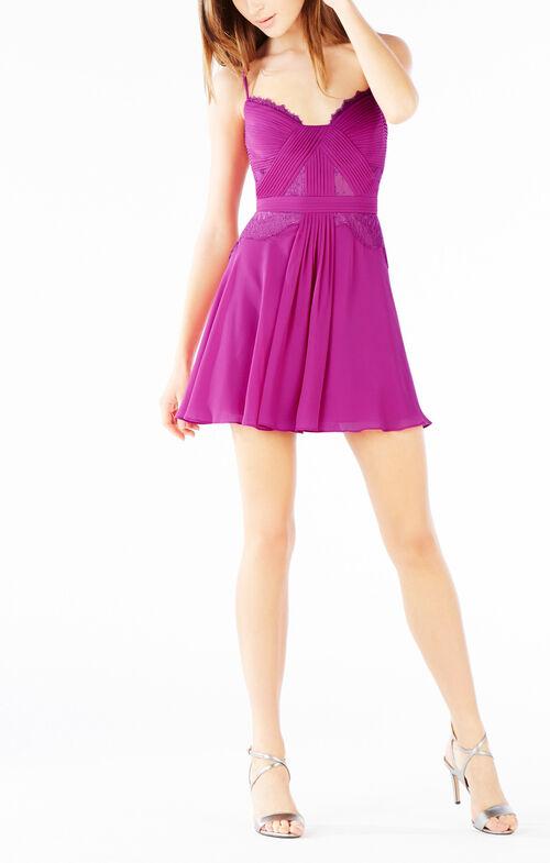 Katalina Lace Trim Pleated Dress