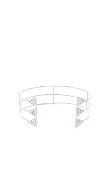 Pave Triangle Layered Charm Cuff