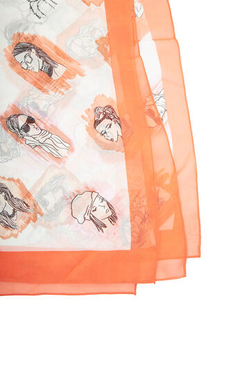 Sketched Square Silk Scarf
