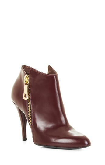 Alessio High-Heel Leather Ankle Bootie