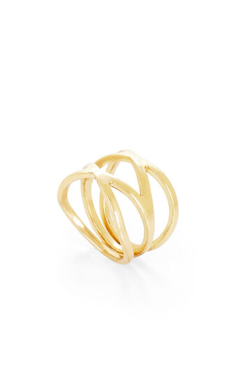 Double Crisscross Ring