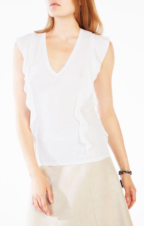 Brittney Ruffle-Sleeve Top