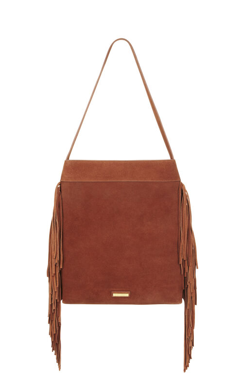 Leni Suede Elongated Fringe Tote