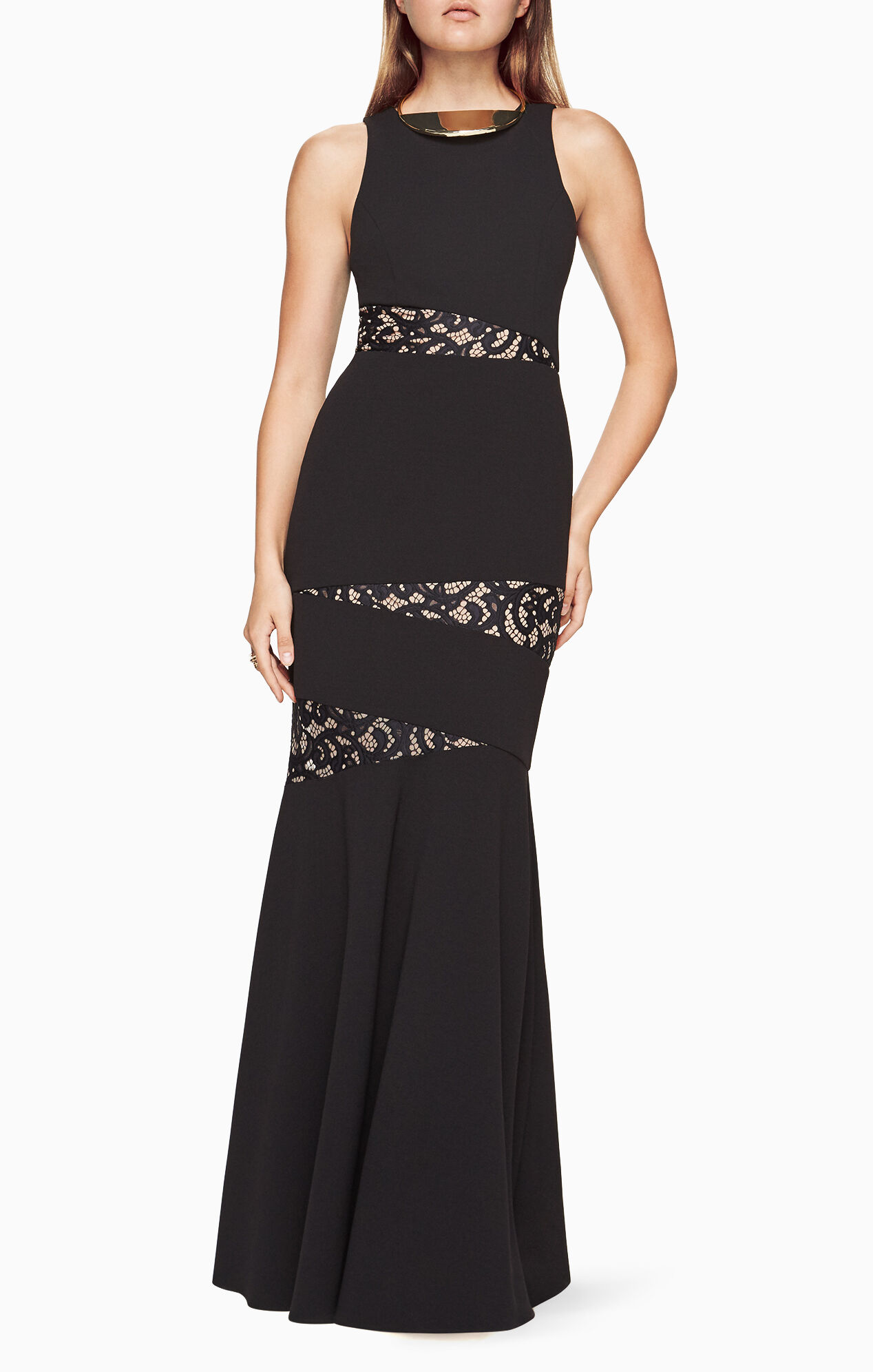 Bcbg black lace dress sale