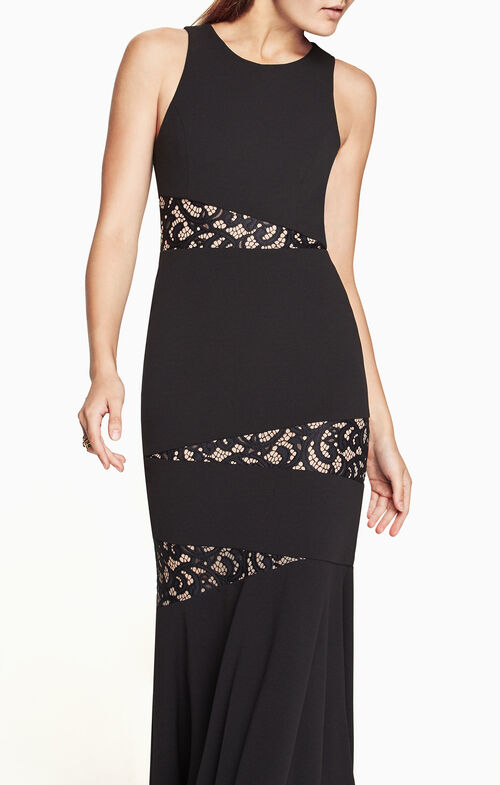 Dominique Lace-Paneled Gown