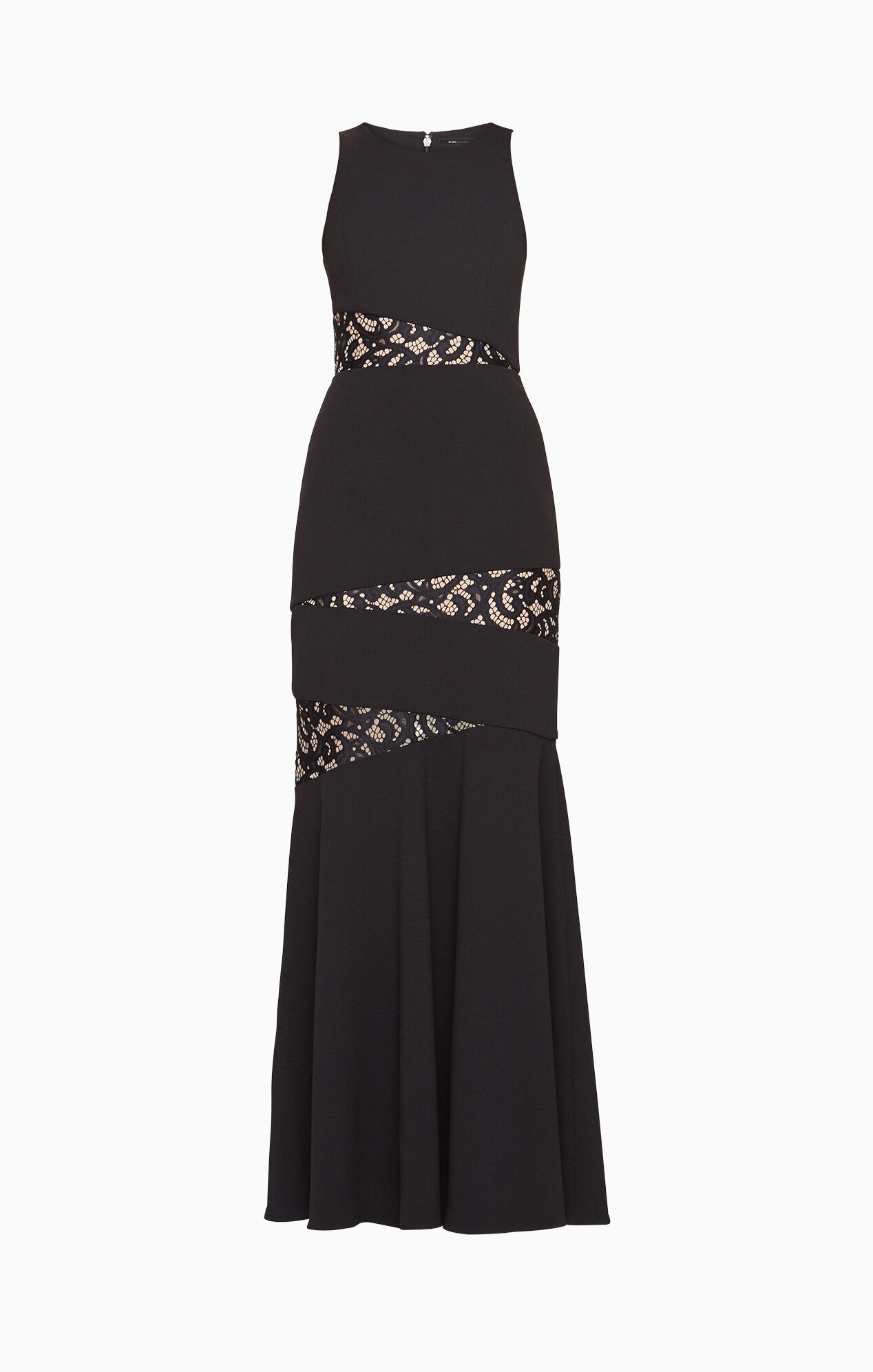 Dominique Lace-Paneled Gown