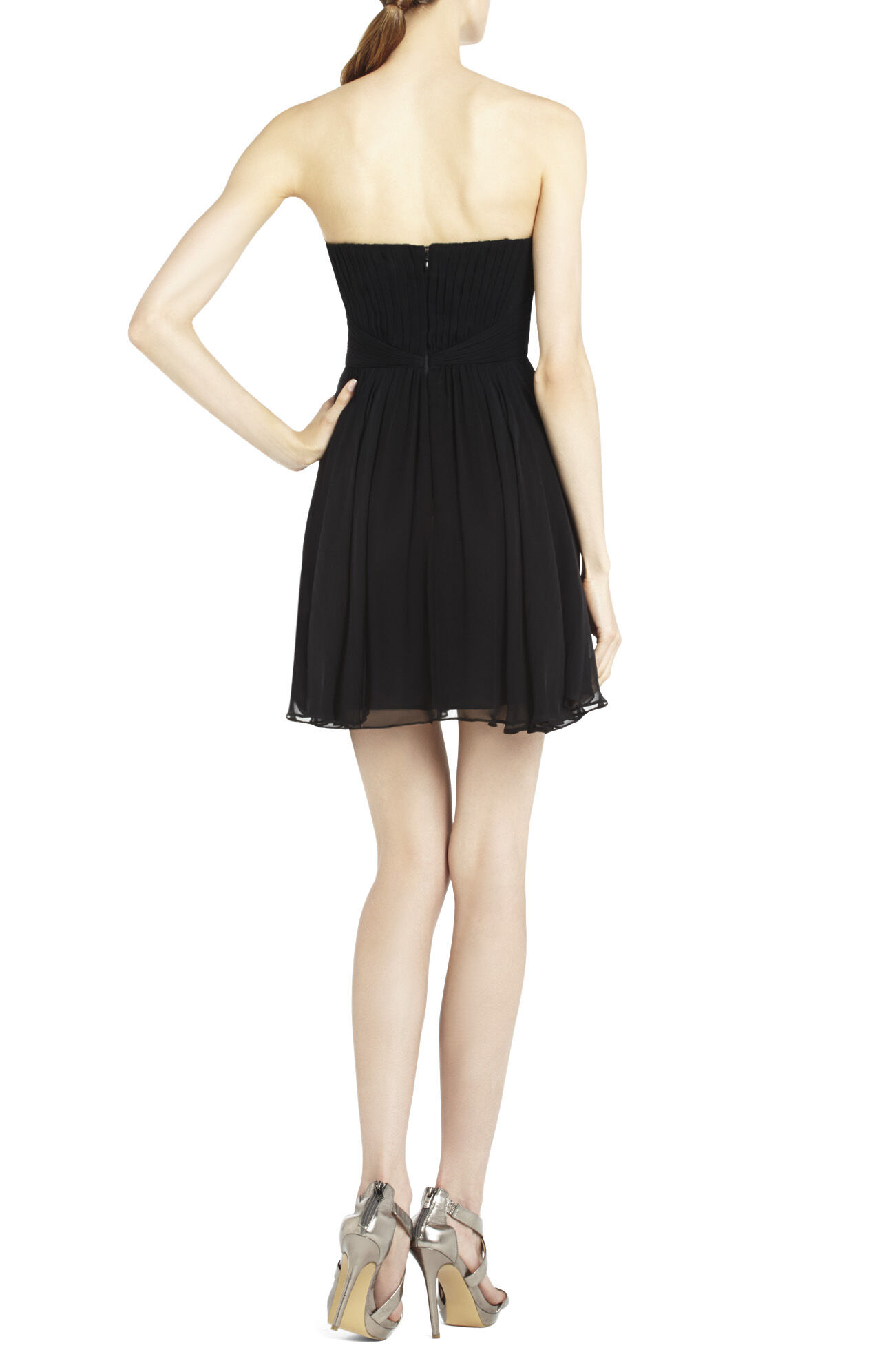 Duran Strapless Dress With Skirt Drape