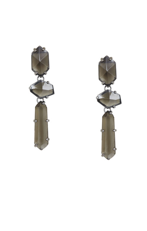 Faceted Stone Earrings