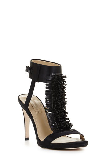 Limbo High-Heel Beaded Pom Dress Sandal