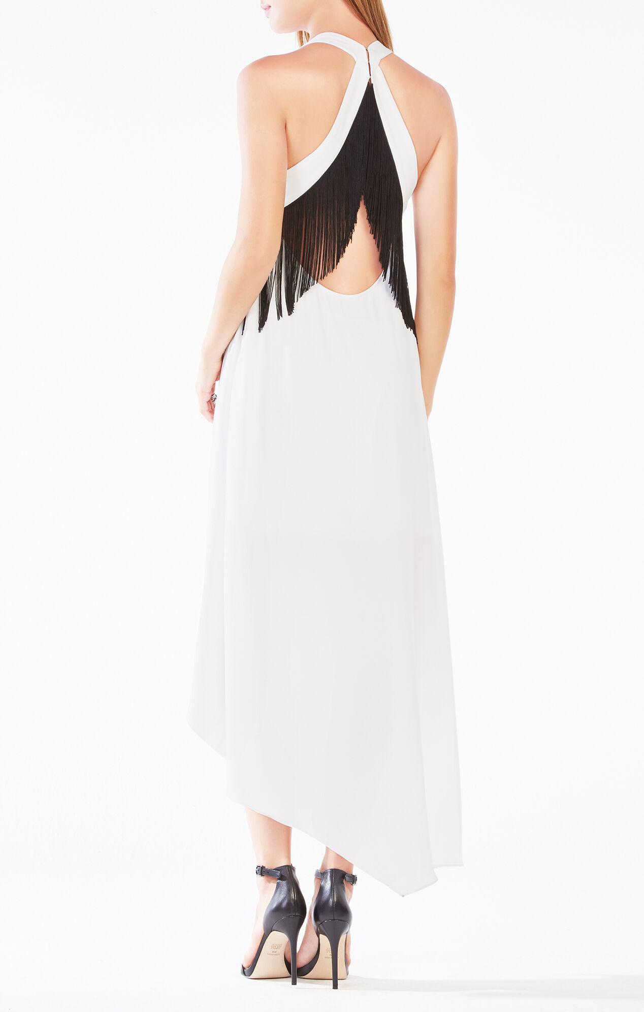 Vickie Fringe High-Low Dress