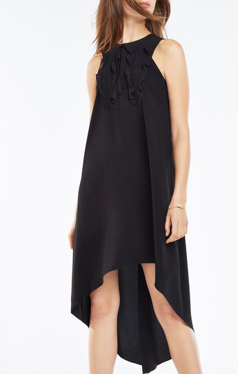 Allisanne Ruffle Bib High-Low Dress