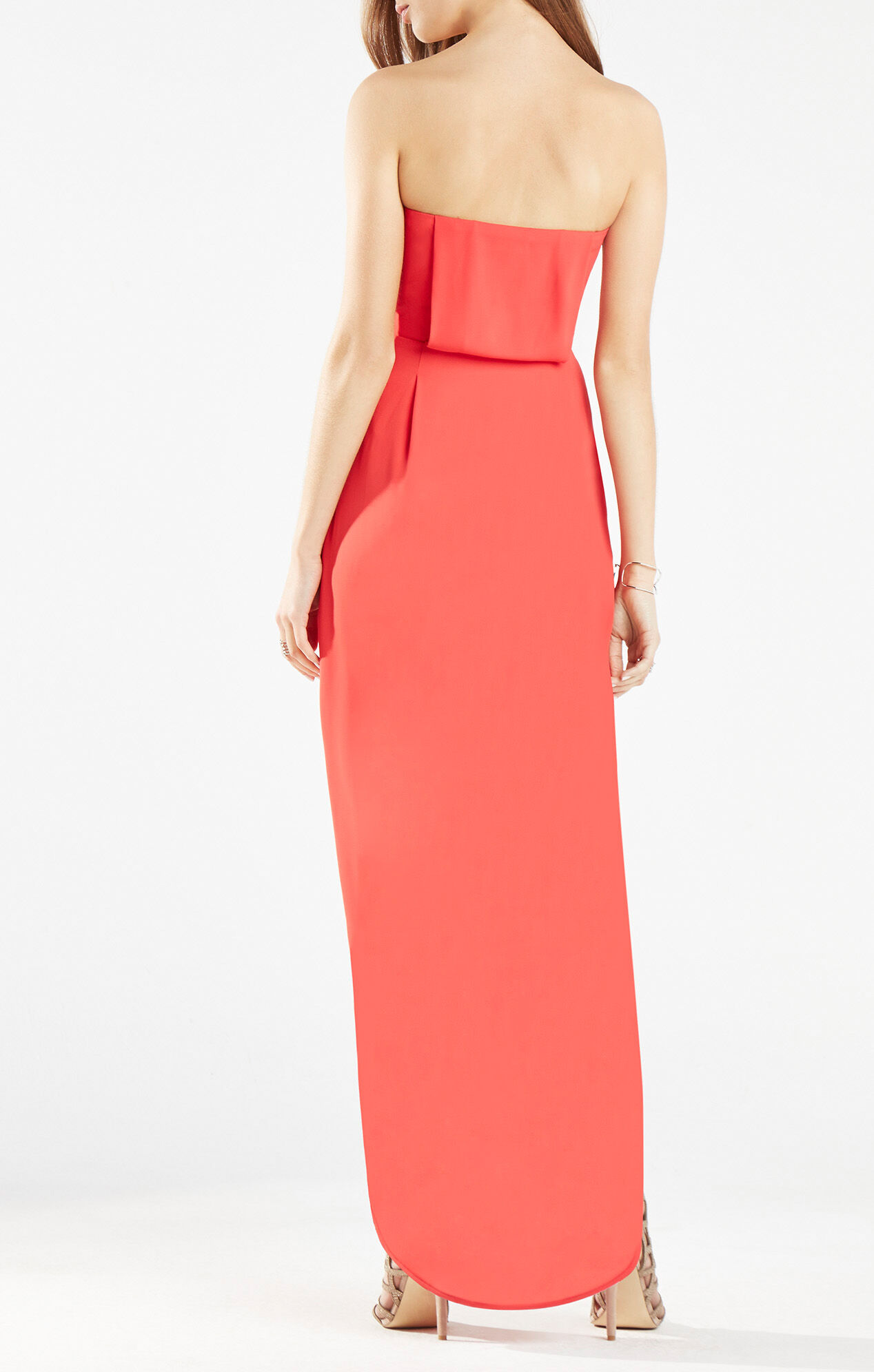 Jesse Draped Strapless Gown