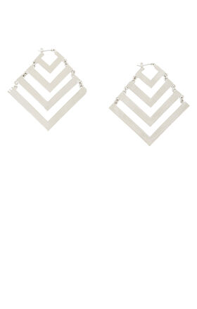 Oversized Tribal Chevron Earrings