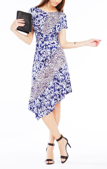 Charlett Ikat Scrolls Print Dress
