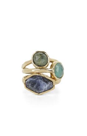 Natural-Stone Ring Set