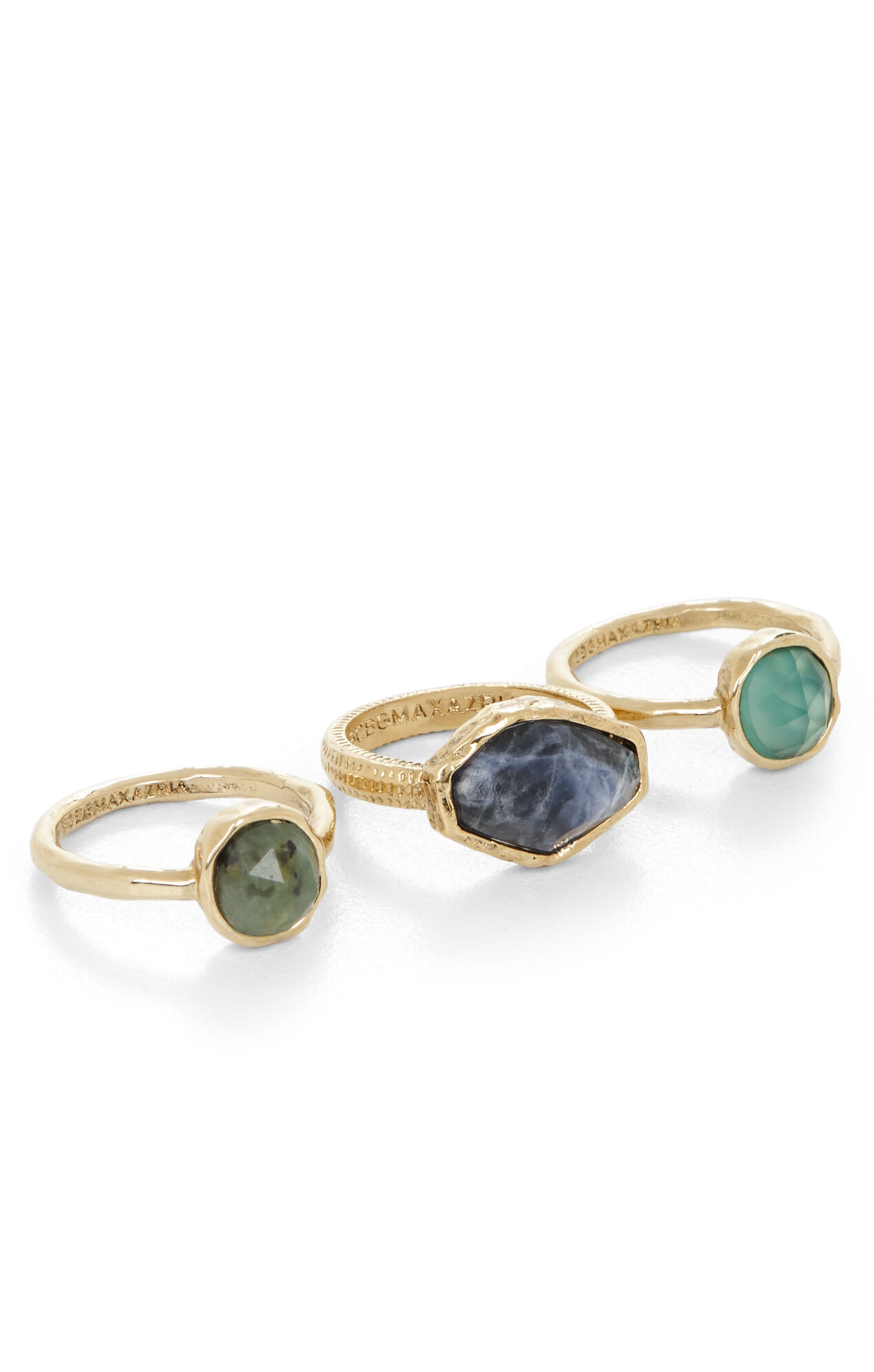 Natural-Stone Ring Set