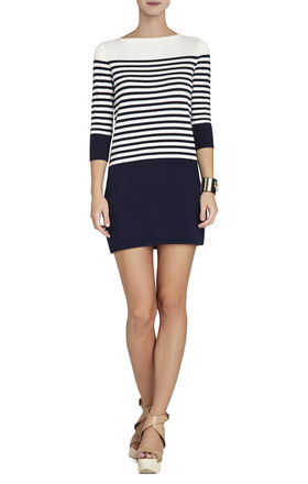Ethel Striped Color-Block Dress