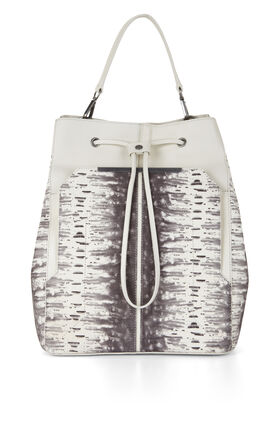 Runway Print-Blocked Backpack