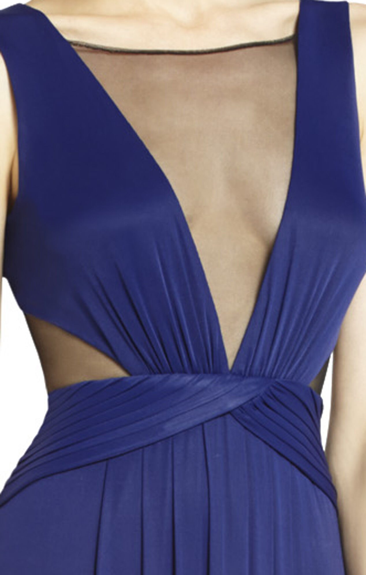 Magdalena Draped Jersey Evening Gown