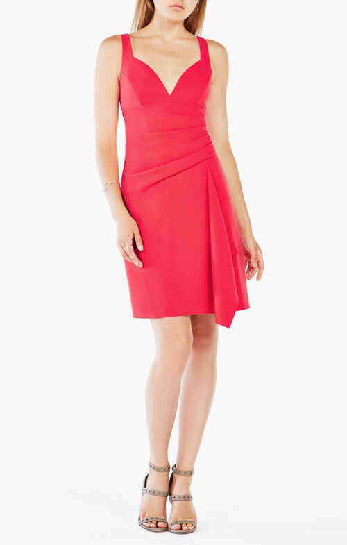 Yazmin Draped Crepe Dress