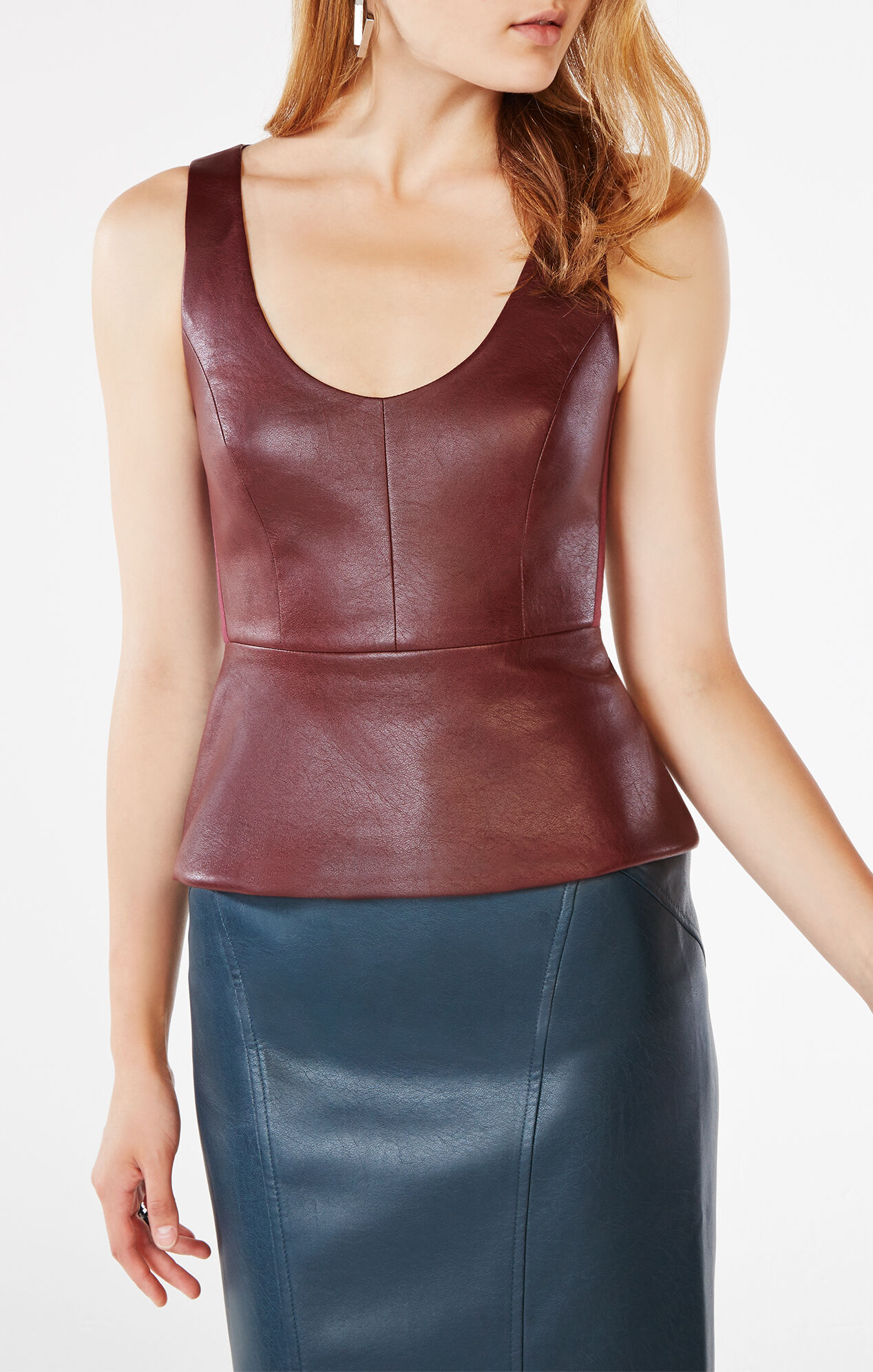 tops the runway view all complete the look. shoes handbags jewelry accessories Faux Leather Peplum Jacket. $ compare at $80 help product description. 2 front pockets, seamed, zip cuffs, grained finish leather & faux leather; next. score in every store find one near you. city, state or .