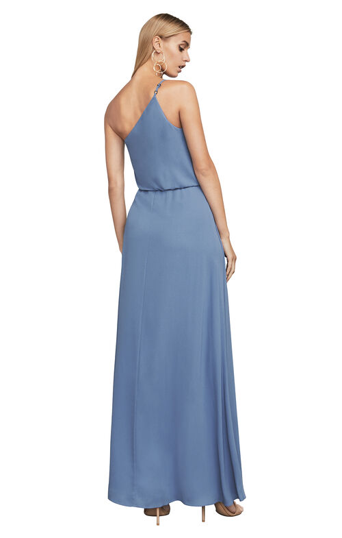 Joyce One-Shoulder Ruffle Gown