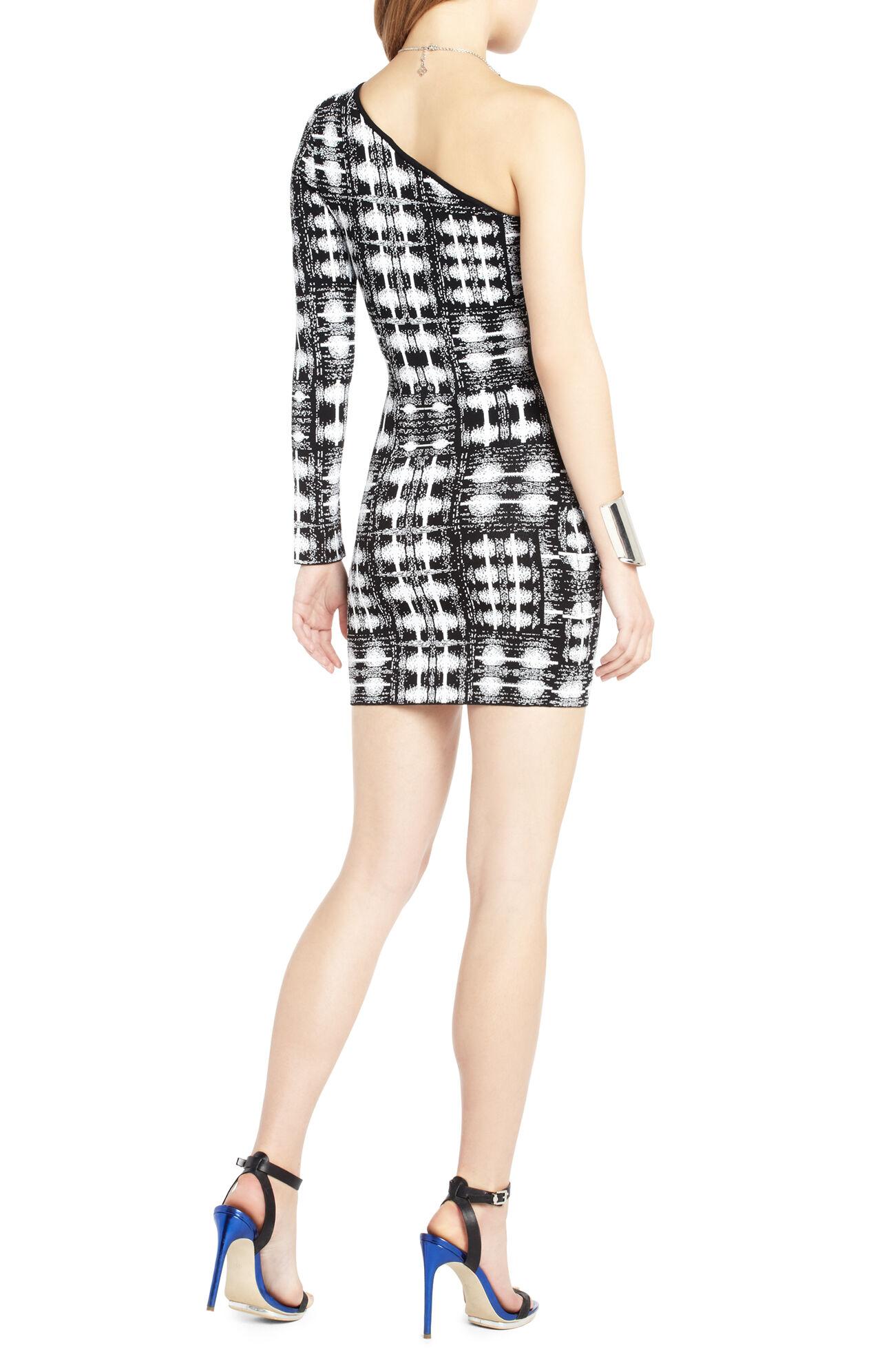 Jordon One-Shoulder Ikat Dress