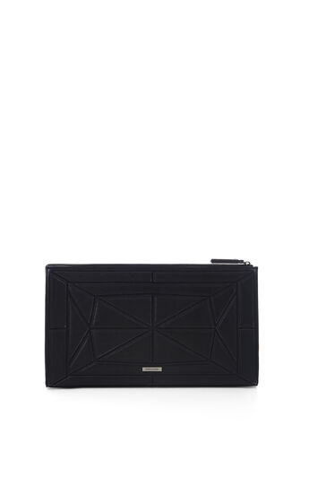 Gwyneth Faux-Leather Patched Clutch