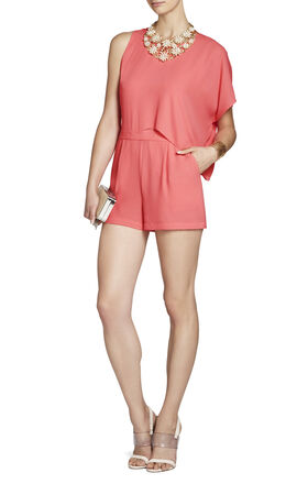 Ambrose Asymmetrical Pleated Romper