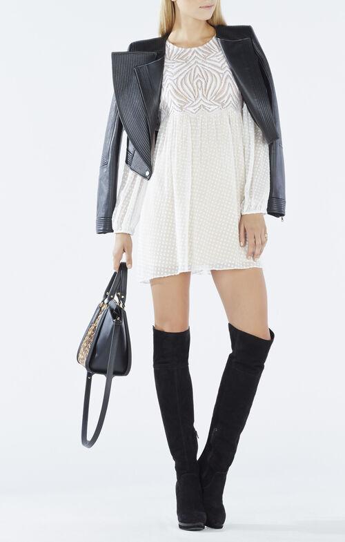 Kitra Lace Peasant Dress