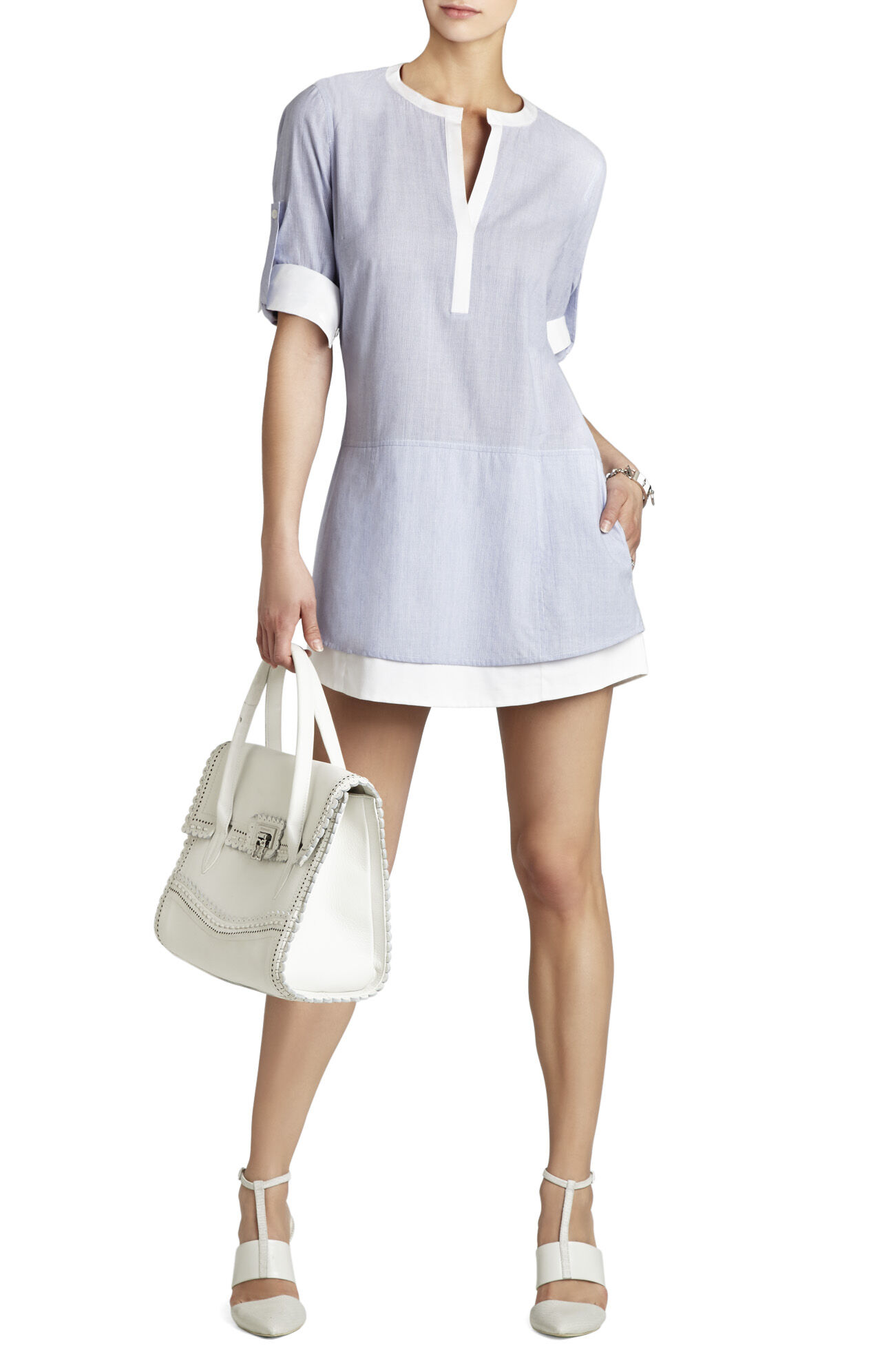 Kelci Long-Sleeve Shirt Dress