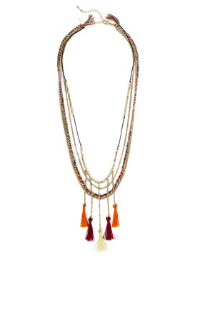 Boho Braided Tassel Necklace