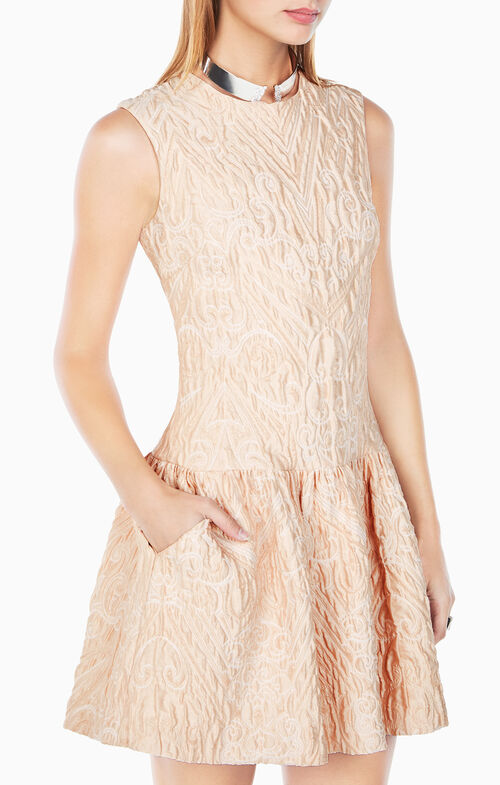 Ashlie Cloque Jacquard Dress