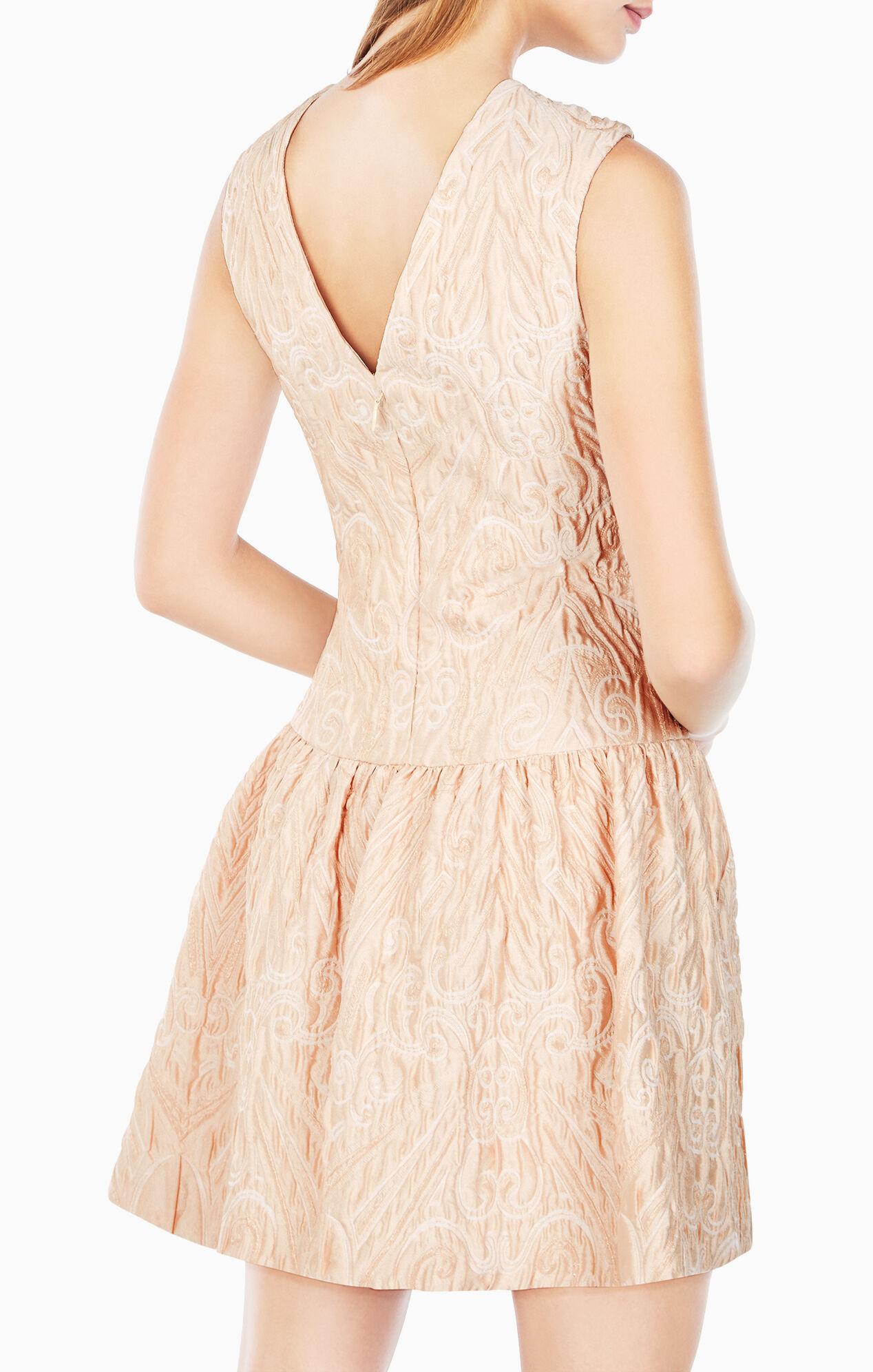 Ashlie Cloque Jacquard Dress