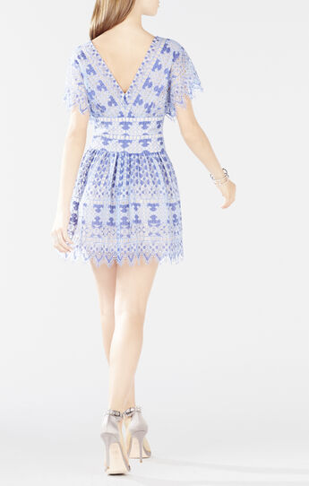 Taran Flutter Sleeve Lace Dress