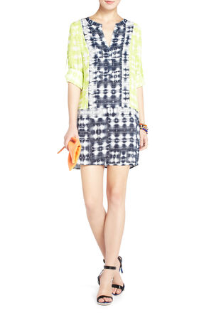 Clementin Print-Blocked Tunic Dress
