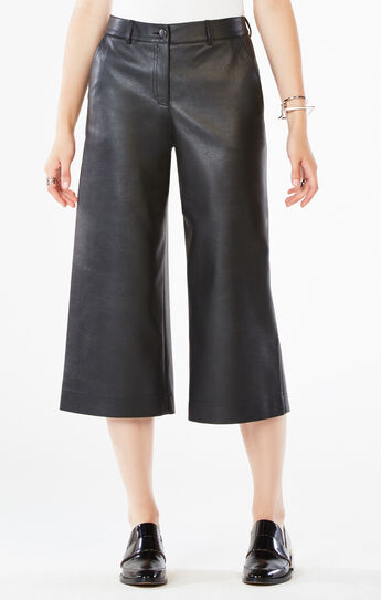 Durran Faux-Leather Culottes