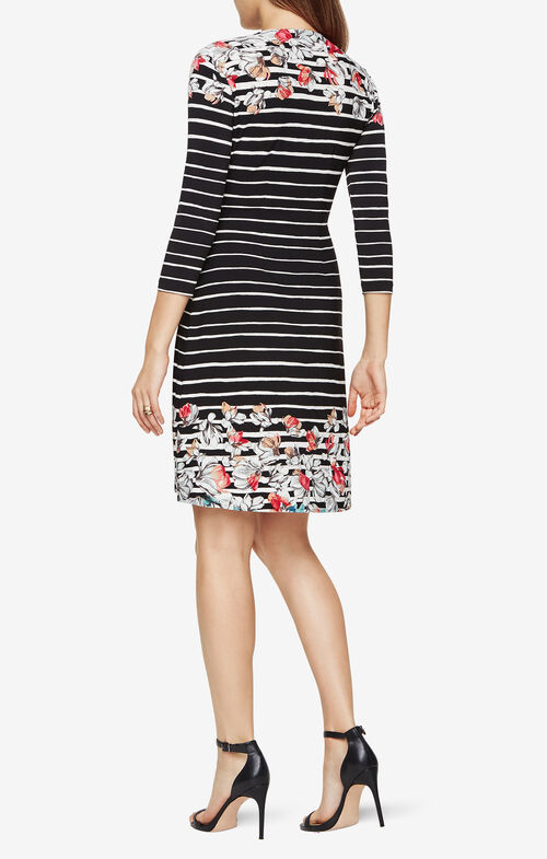Adele Floral Stripe Wrap Dress