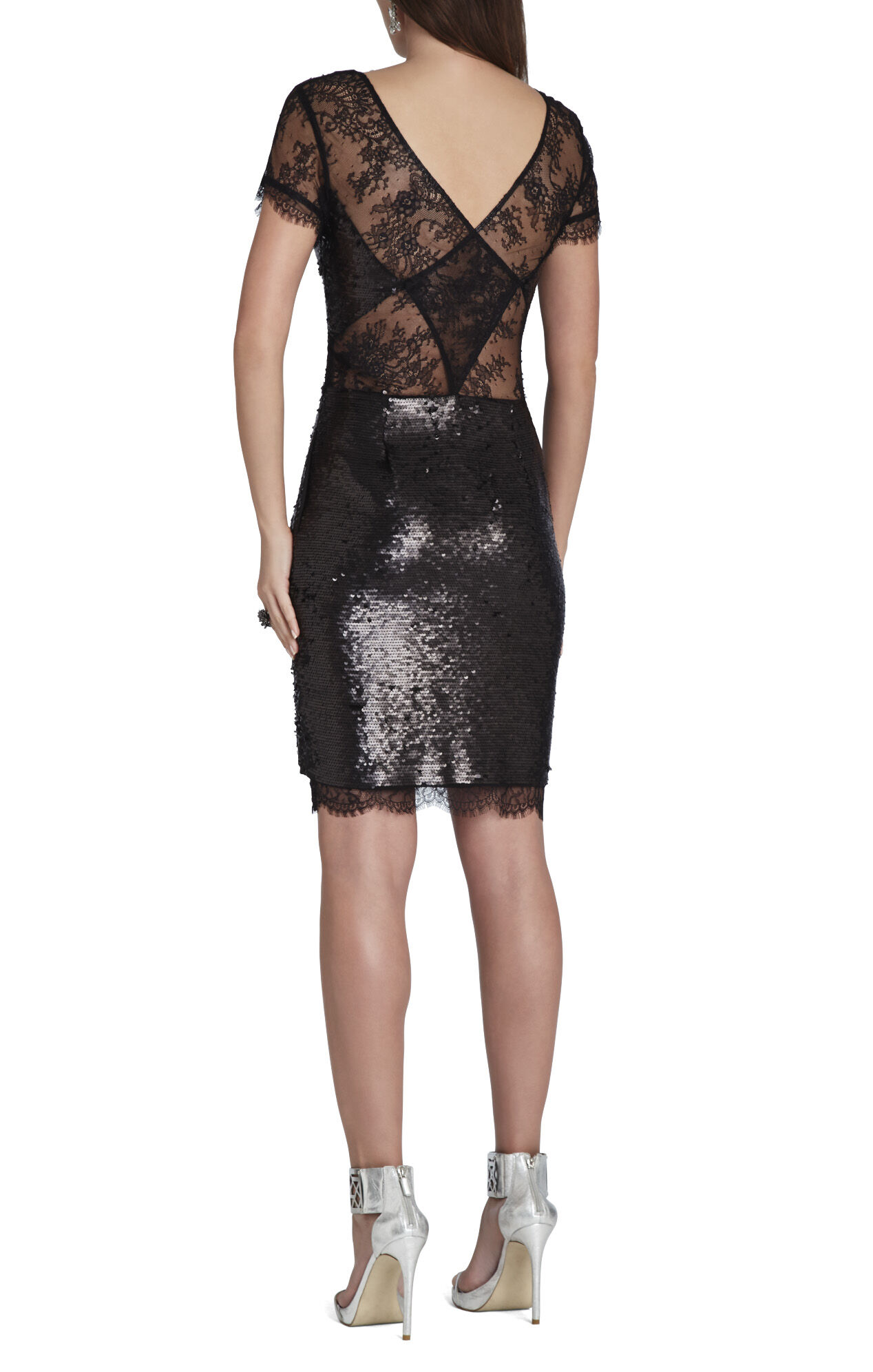 Nel Crossback Lace V-Neck Dress