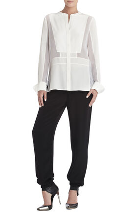 Runway Elina Paneled Silk Blouse