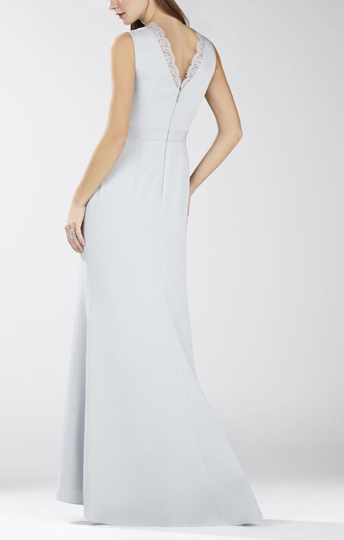 Alyza Deep V Lace Insert Dress