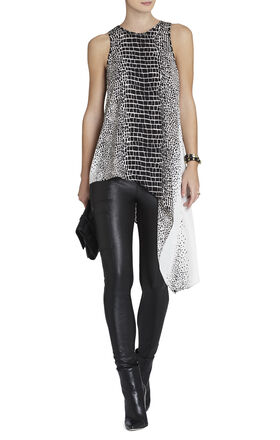Cindi Printed Asymmetrical Top